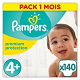 Pampers Premium Protection tamaño 4 +, 1er Pack (1 x 140 unidades)