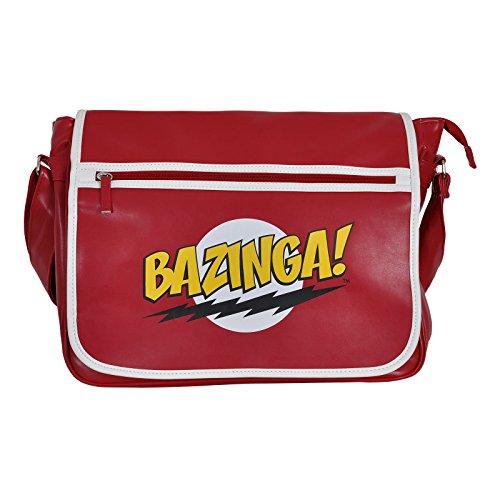 Big Bang Theory Tasche Bazinga Messenger Bag rot