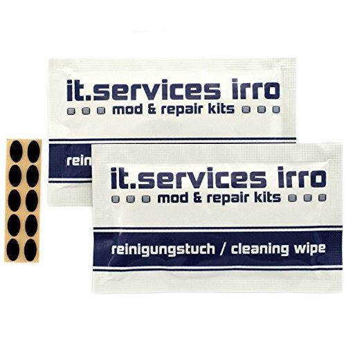 2x Sets Glides / Mausgleiter passend für Logitech MX500 / MX510 / MX518 (v1) / MX700 / MX900, inkl. 2 Reinigungspads