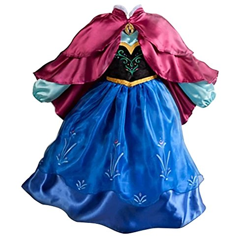 MissFox Kostüm Für Karneval Prinzessin Kleid Anna 130CM Als Bild