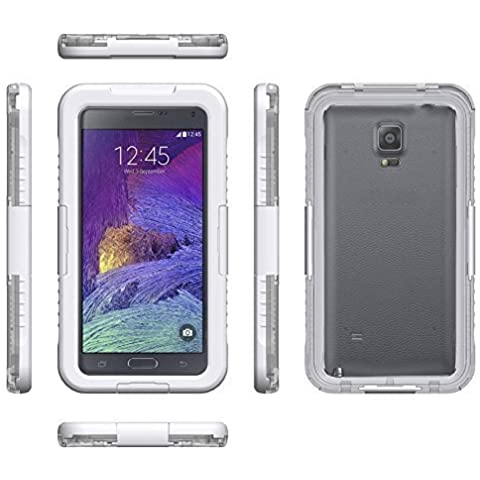 MP power @ Blanco Funda carcasa acuatica sumergible para Samsung Galaxy note 4 , NOTE 4