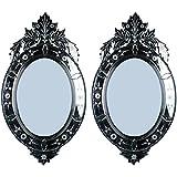 MADHUSUDAN GLASS WORKS Mirror & Plywood Wall Mirror (Pack Of 2, Silver) - B07BJ4HTJ2
