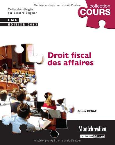 Droit fiscal des affaires 2013