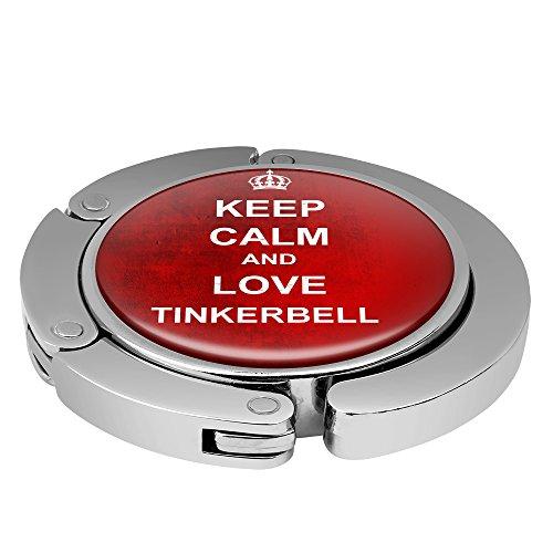 Taschenhalter Keep Calm Personalisiert mit Namen Tinkerbell printplanet Chrom
