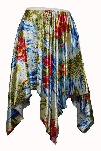 Kostüm Panto Dress Fancy Dame - The Dragons Den Damen Hawaiianisches Taschentuch mit Blütenblättern, Blau Gr. 8/12 UK, blau