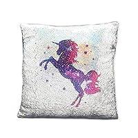 LeahWard Unicorn Rainbow Mermaid Or Plain Sequin Pillow Cover Cushion Case Magic Kids Girls Hot Xmas Gift