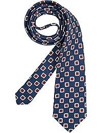 Jacques Britt Herren Krawatte Herren-Accessoire Gemustert, Größe: Onesize, Farbe: Blau