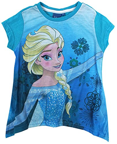Get Wivvit Girls T-Shirt Disney Frozen Sisters Anna & Elsa Tunic Style Top Sizes from 4 to 8 Years