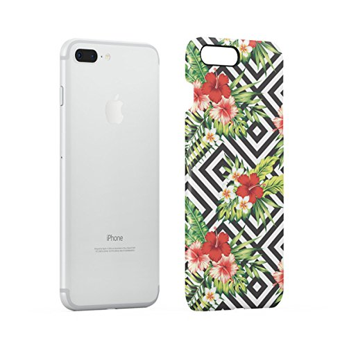 Tropical Floral Flowers Aloha Hawaii Exotic Jungle Pattern Print Apple iPhone 7 Snap-On Hard Plastic Protective Shell Case Cover Custodia Red Hibiscus