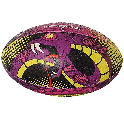 Optimum Venom - Balón de rugby pequeño, color morado - Purple/Green, tamaño mini
