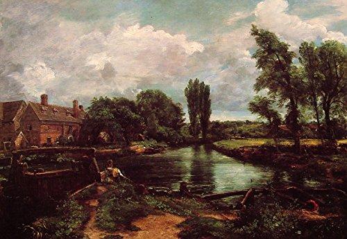 OdsanArt 40,64 cm x 27,94 cm Arte Nouveau paesaggi 'Flatford le Stour mulino da un lucchetto' by John Constable fine arte stampe su tela di alta qualità