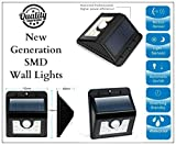 Garden Mile® 8 SMD Motion Sensor PIR Home Security Solar Lights Wireless Weatherproof Security Light Motion Sensor Lamp with 3 Intelligent Modes for Garden, Outdoor, Fence, Patio, Deck, Yard, Home, Driveway, Stairs, Outside Wall etc.