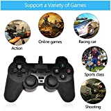 #8: Sufi World USB 2.0 Gamepad Single Vibration Dual Joystick Gamepad Wired Game Controller For Laptop PC (BLACK)