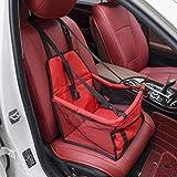 Zll Hund Autositz Haustier Auto Booster Sitz Haustier Hund Booster Autositz Tragbare und atmungsaktive Tasche Aufbewahrungspaket Perfekt für kleine und mittlere Haustiere,Red