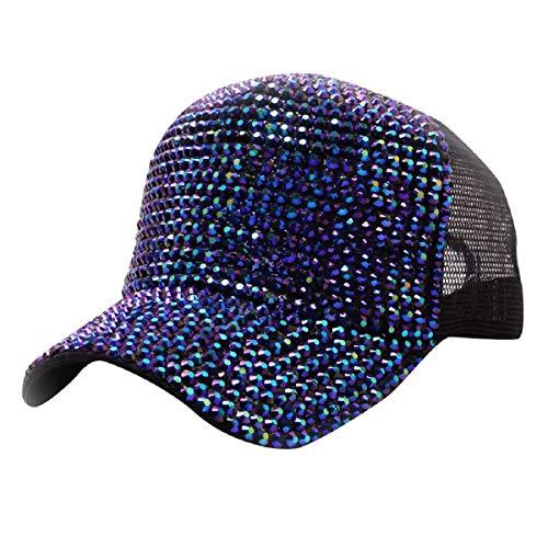 Barlingrock Unisex Erwachsene Diamond Mesh Breathable Cap Baseball Caps Reversible Cloche Hut