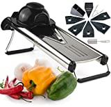 Chef's INSPIRATIONS Premium V-Blade Mandolin Slicer, Cutter, Julienne and Food Grater. Best For