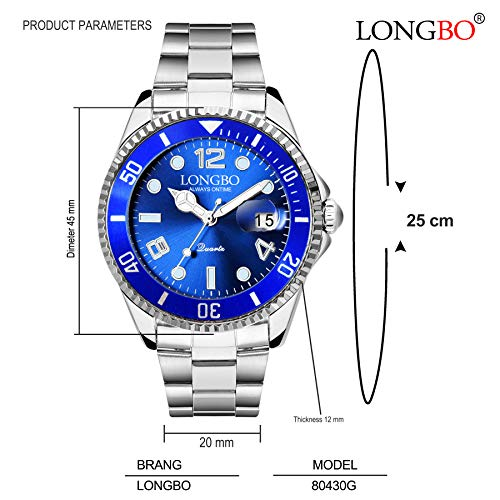 Longbo Master Royale Stainless Luxury Analog Watch for Men