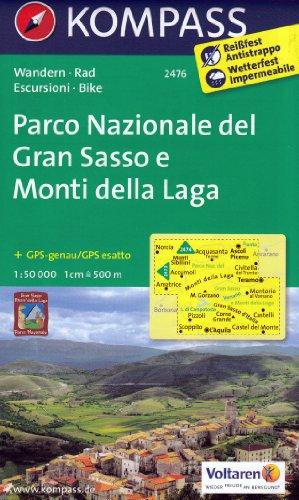 Parco Nazionale del Gran Sasso e Monti della Laga (Abruzzes, Italie) 1:50.000 carte topographique de randonnée KOMPASS # 2476