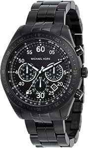 Michael Kors Herren-Armbanduhr XL Chronograph Quarz Edelstahl beschichtet MK8139