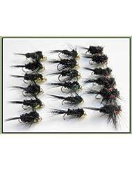 Montana Lot de 18mouches de pêches nymphe casquée dorée et pattes courtes