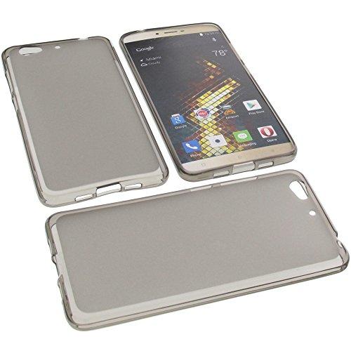 foto-kontor Tasche für Blu Vivo 5 Gummi TPU Schutz Handytasche grau