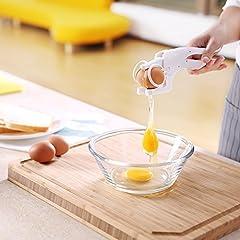 Idea Regalo - Zanmini Rompi Uova Sgusciatrice Manuale Separatore Cracker d'uovo Bianco