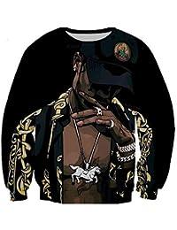 MOIMK Unisex Vida Rap Hip-Hop 2Pac Artista Tupac Rap Sudaderas con Capucha 3D impresión