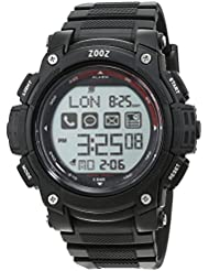 ZOOZ J Bluetooth Smartwatch - Free iOS + Android App, SMS + Call Alerts, Remote Camera, Anti Lost, 5AMT Waterproof, World Time