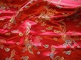 Rot und Gold traditionellen chinesischen bestickt Brokat