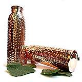 New Raj Enterprises Pure Copper Hammered Leak Proof Bottle Combo 1000 Ml Joint Free Bottles,Set Of 2 Pure Copper Natural Water Bottle 1 Litre