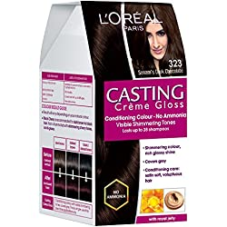 L'Oreal Paris Casting Creme Gloss, Sonam's Dark Chocolate 323, 87.5+72ml.