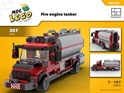 Fire engine tanker (Instruction Only): MOC LEGO (English Edition)