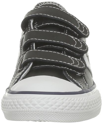 Converse Sp Ev 3V Lea Ox 290330-31-8 Unisex - Kinder Sneaker Schwarz (Noir/Blanc)