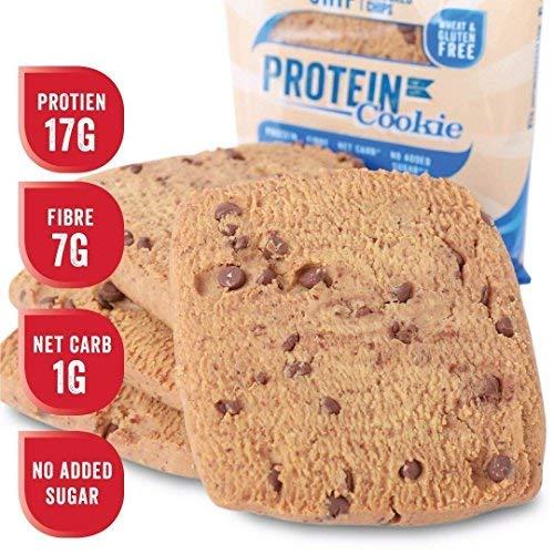 Justine's low carb Cookie mit Schokoladenstückchen | Kohlenhydratarm 2g | Proteinreich | Ohne Zuckerzusatz | Glutenfrei | Ohne Weizen | 6 x 64g (Diät Lieferung Frische)