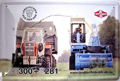Schild Blechschild 20x30cm - Landtechnik aus der DDR ZT300 - E281