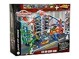 Majorette 212059989 Super City Garage Train motorisé pour Voiture avec parkings et chemins de Fer pour Voitures et Jouets pour garçons et Filles à partir de 5 Ans Multicolore