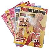 jameitop®Pornotebook 5 X Krasse Notizblock A4 provokant im Erotik-Magazin Look JGA / Sex / Uni Gag