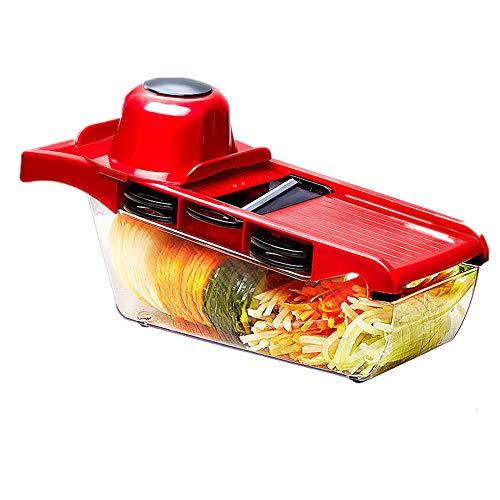 ZLF Küche Grater Multi-Function Shredder Home Manual Slicer Rash Potato Grater Gemüsechach austauschbare Klinge mit Peeler Potato Tomato Tomato Onion Käsegurbel Schneidemaschine -