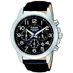 Pulsar PT3495X1 Men's Watch XL Analogue Quartz Classic Leather