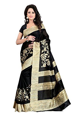 Shreeji Ethnic Women'S Bhagalpuri Silk saree With Blouse Piece(arpita grey)