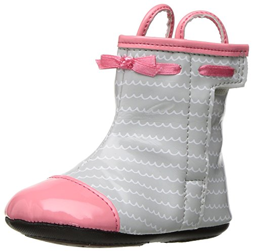 Robeez Happy Hopper Rainboot Hard Sole Mini Shoe (Infant) Hot Pink