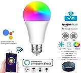 Ampoule WiFi, E27 Smart WiFi Multicolore, ampoule LED (RGB + W2700-6400K 11W) smartphone contrôle à distance et commande vocale par Amazon Alexa et Google Home pas besoin de hub