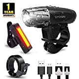 SUPERSTA USB Rechargeable Bike Light Set 400 High lumen Front and Rear Bicycle