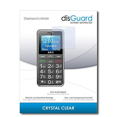 disGuard® Displayschutzfolie [Crystal Clear] kompatibel mit AEG Voxtel SM250 [2 Stück] Kristallklar, Transparent, Unsichtbar, Extrem Kratzfest, Anti-Fingerabdruck - Panzerglas Folie, Schutzfolie