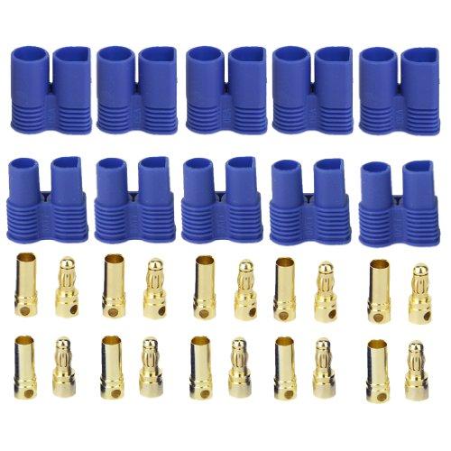5 Paar EC3 Bananenstecker Weiblich Männlich Rundstecker für RC ESC LIPO Batterie Motor