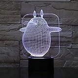 Lampe de bureau Illusion 3D Enfants Led Lampe De Nuit Mon Voisin Totoro Veilleuse...