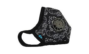 Cambridge Mask Company Máscara Antipolución de Grado Militar N99 con Respirador Lavable y NUEVAS tiras ajustables China / India / Hombres / Mujeres / Viajes / Polvo / Polución / Bici / Moto / Deporte
