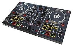 Numark Party Mix – 2 Kanal Plug-und-Play DJ Controller für Serato DJ Lite mit eingebautem Audio Interface und Kopfhörer Cueing, Pad Performance Steuerung, Crossfader, Jog Wheels und Light Show