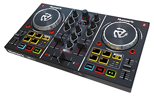 Numark Party Mix DJ Controller with Built-In Sound Card Light Show and Virtual DJ LE Software