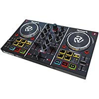 Numark Party Mix Consolle da DJ a 2 Deck, MIDI, USB, Proiezione Luci Colorate, Interfaccia Audio, Completa di Effetti